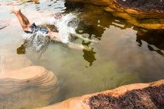 罗赖马山极可意浴缸委内瑞拉 库存图片