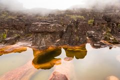 罗赖马山极可意浴缸 库存照片