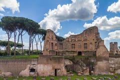 罗迈因废墟,意大利 库存图片