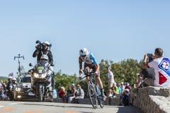 罗迈因Bardet,单独时间试验-环法自行车赛2016年 免版税库存图片