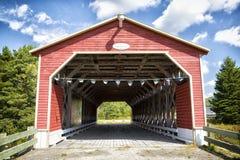 罗迈因Caron被遮盖的桥 免版税库存照片