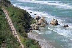 罗迪加尔加尼科 普利亚 海镇在Gargano 免版税库存照片
