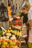 罗阿诺克农夫市场 库存图片