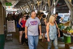 罗阿诺克市农夫市场 库存照片
