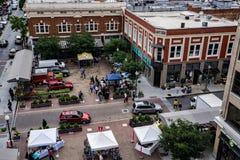 罗阿诺克市市场 库存图片