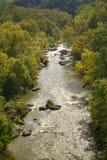 罗阿诺克河峡谷的秋天视图 免版税库存图片