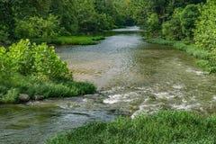 罗阿诺克河的夏令时视图 图库摄影