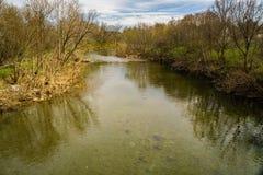罗阿诺克河的春天视图 库存图片