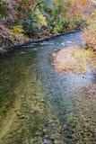 罗阿诺克河秋天视图  免版税库存图片