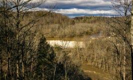 罗阿诺克河水坝 库存照片
