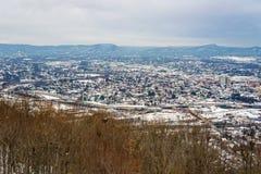 罗阿诺克谷的一个早冬天视图 免版税图库摄影