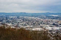 罗阿诺克谷的冬天视图 库存图片