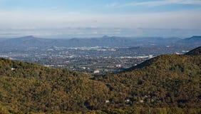 罗阿诺克谷的秋天视图 库存图片