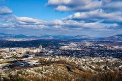 罗阿诺克谷,弗吉尼亚,美国的Winter's视图 库存图片