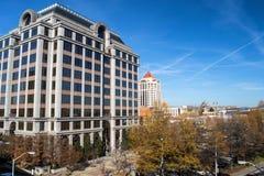 罗阿诺克,弗吉尼亚,美国都市风景的看法  免版税图库摄影