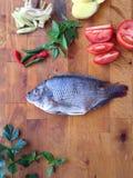 罗非鱼汤 免版税库存照片
