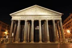 罗马万神殿在晚上 免版税库存照片
