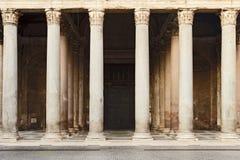 罗马万神殿门面零件 免版税库存图片