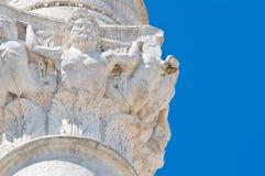 罗马专栏。布林迪西。普利亚。意大利。 免版税库存照片