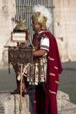 罗马争论者表现罗马斗兽场的 库存照片
