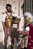 罗马争论者表现罗马斗兽场的 图库摄影