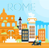 罗马传统背景传染媒介例证 免版税库存图片