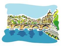 罗马全景例证 免版税图库摄影