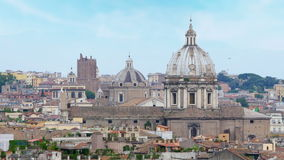 罗马全景视图,意大利, 4k 股票视频
