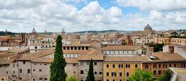 罗马全景从Campidoglio的 免版税库存照片