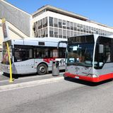 罗马公共汽车 图库摄影