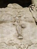罗马军事雕塑细节 免版税库存照片