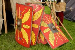 罗马军团盾  免版税库存照片