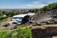 罗马剧院利昂法国 库存照片