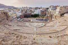 罗马剧院在卡塔赫钠 库存图片