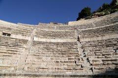 罗马剧院在阿曼,约旦 免版税库存照片