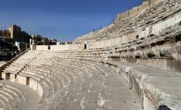 罗马剧院在阿曼,约旦 图库摄影