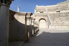 罗马剧院在阿曼,约旦 库存照片