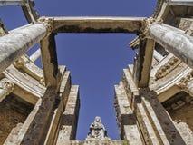 罗马剧院女神蜡膜 免版税库存照片