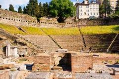 罗马剧院的里雅斯特 免版税库存照片