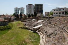 罗马剧院,都拉斯,阿尔巴尼亚 库存照片