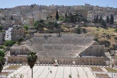 罗马剧院,阿曼,约旦 免版税库存图片