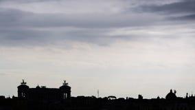 罗马剪影 免版税图库摄影