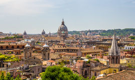罗马历史的中心,意大利看法  免版税图库摄影