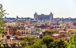 罗马历史的中心,意大利看法  库存图片