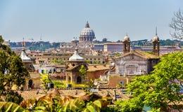 罗马历史的中心,意大利看法  免版税库存图片