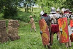 罗马古老军队 免版税库存照片