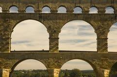 罗马古老渡槽du法国gard的pont 免版税库存照片