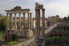 罗马古老的列 库存照片