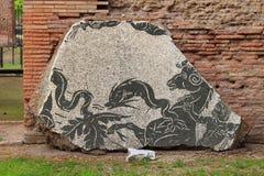 罗马古老的马赛克 免版税库存图片
