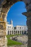 罗马圆形剧场古老的普拉 库存图片